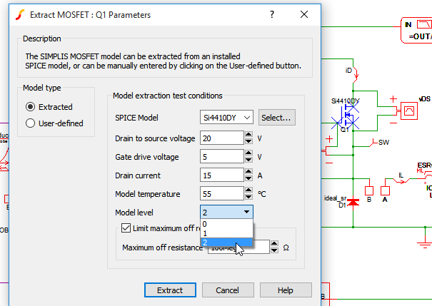 SIMPLIS MOSFET Model Extraction