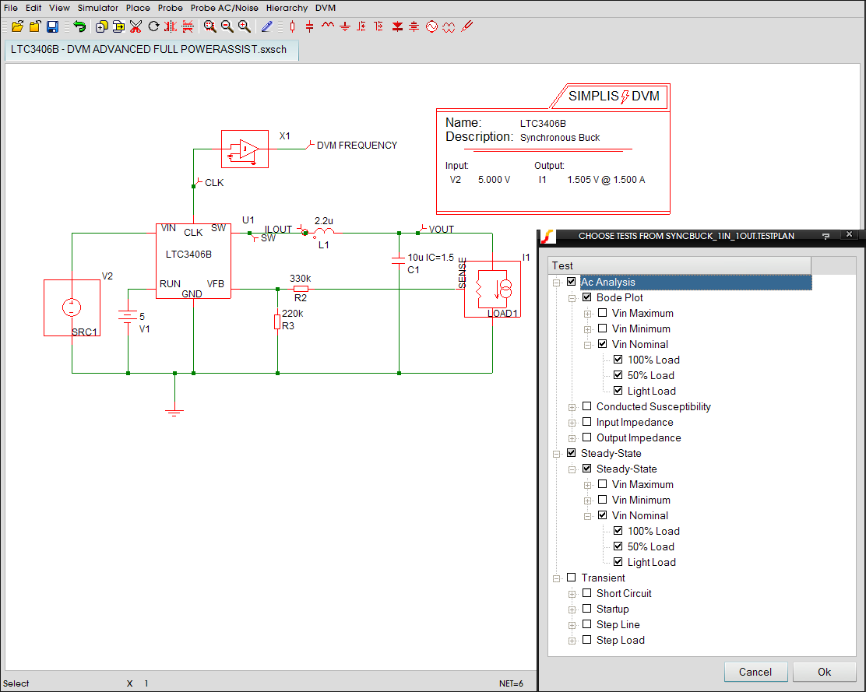Design Verification Module Simplis Series Ac Circuit With Resistive Loads Dvm Testplan And Schematic